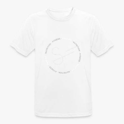 SMAT FIT FITNESS & NUTRITION BLACK HOMME - Camiseta hombre transpirable