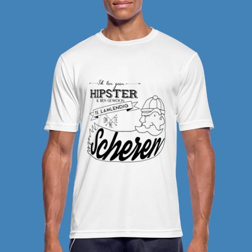Ik ben geen hipster - Mannen T-shirt ademend actief