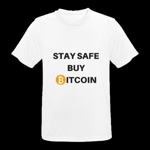 stay safe buy bitcoin - Männer T-Shirt atmungsaktiv