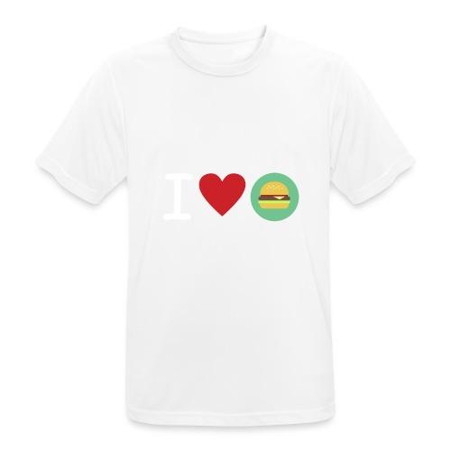 Amor de hamburguesa - Camiseta hombre transpirable