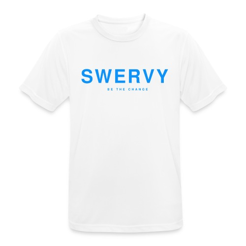 SWERVY BE THE CHANGE - BLUE - Men's Breathable T-Shirt