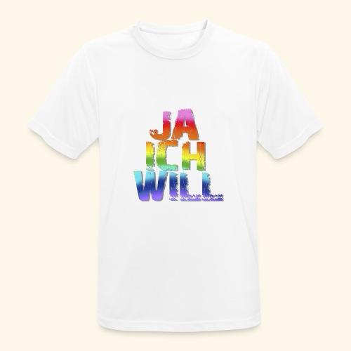 ja ich will! - Männer T-Shirt atmungsaktiv