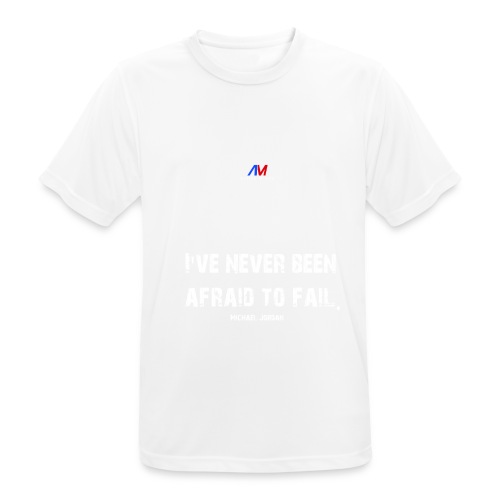 Motivational charged clothing Michael Jordan WHITE - Männer T-Shirt atmungsaktiv