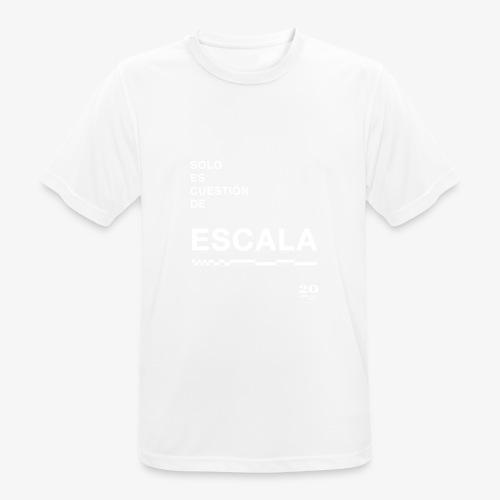 escala - Camiseta hombre transpirable