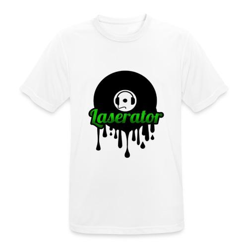 Laserator Logo - Männer T-Shirt atmungsaktiv