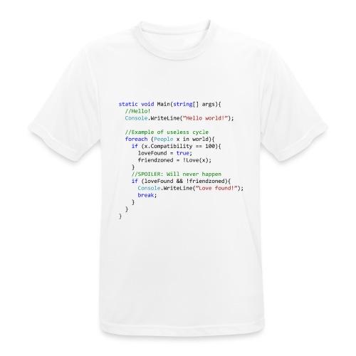 Love seen by a C# programmer - Maglietta da uomo traspirante