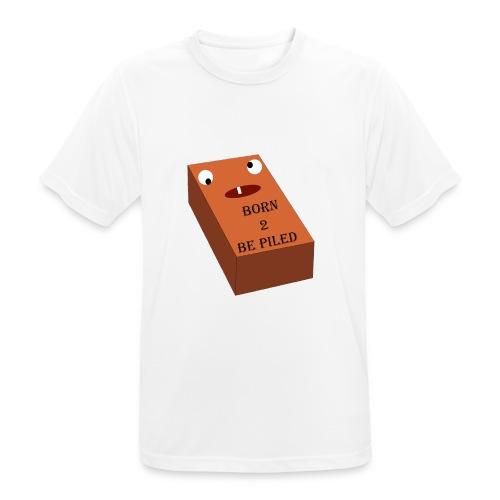 Brick Life - Mannen T-shirt ademend