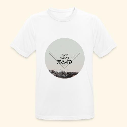 Eat, Sleep, Read - Andningsaktiv T-shirt herr