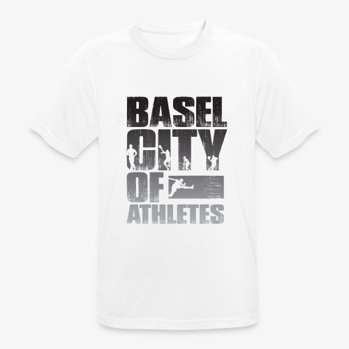 Basel City of Athletes B/W - Männer T-Shirt atmungsaktiv