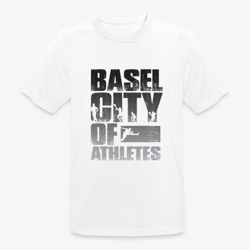 Basel City of Athletes B/W - Männer T-Shirt atmungsaktiv