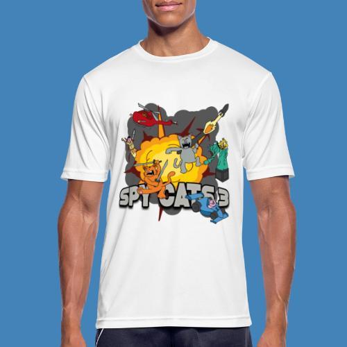 Spy Cats 3 - Mannen T-shirt ademend actief