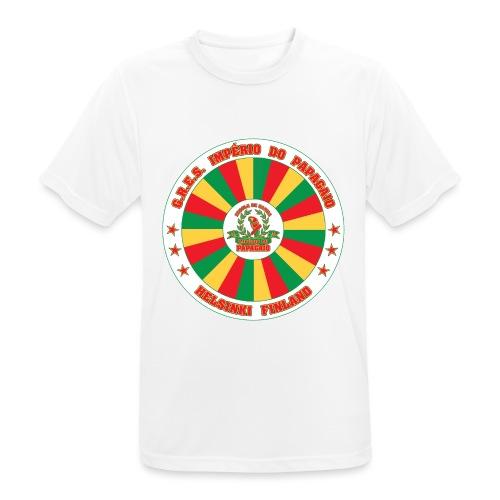 Papagaio drum logo - miesten tekninen t-paita