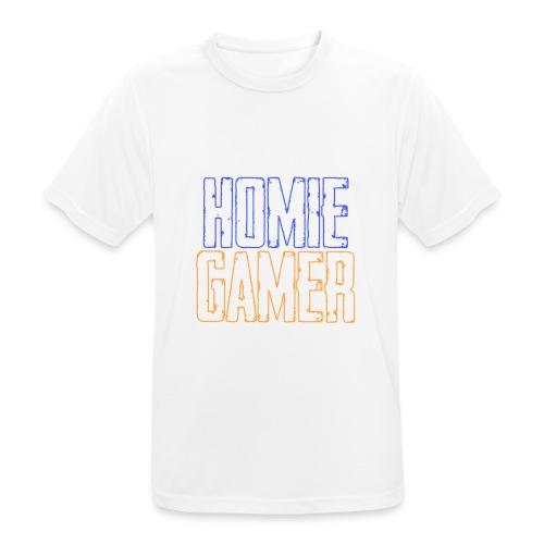 Hømie Gamer Klær (Neon Stil) - Pustende T-skjorte for menn