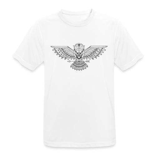 Grafische uil - Mannen T-shirt ademend