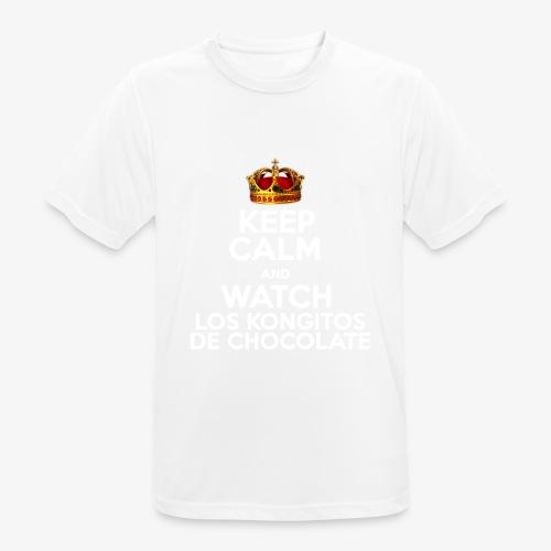 KEEP CALM AND WATCH LOS KONGITOS DE CHOCOLATE - Camiseta hombre transpirable