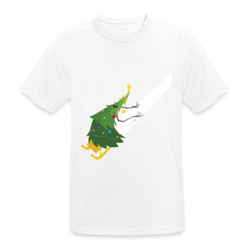 Weihnachtsbaum Schlittenfahrt - Männer T-Shirt atmungsaktiv