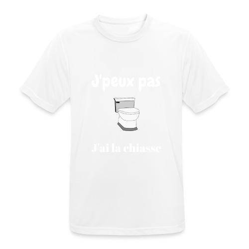 J'peux pas j'ai la chiasse - T-shirt respirant Homme