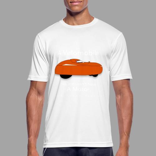 it's a velomobile white text - miesten tekninen t-paita