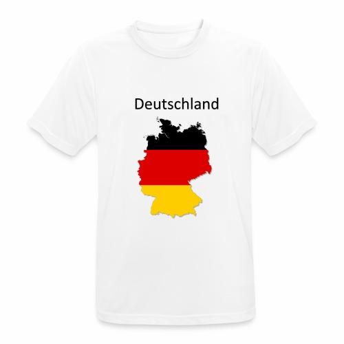 Deutschland Karte - Männer T-Shirt atmungsaktiv