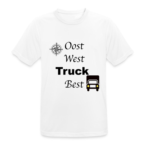 Oost West Truck Best - mannen T-shirt ademend