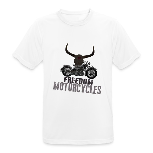 FREEDOM MOTORCYCLES - Camiseta hombre transpirable