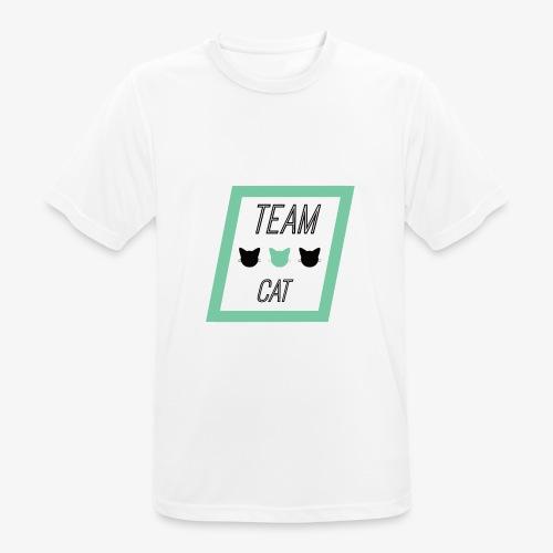 Team Cat - Slogan Tee - Koszulka męska oddychająca