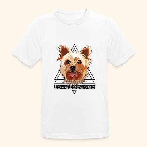 YORKIE LOVE FOREVER - Camiseta hombre transpirable