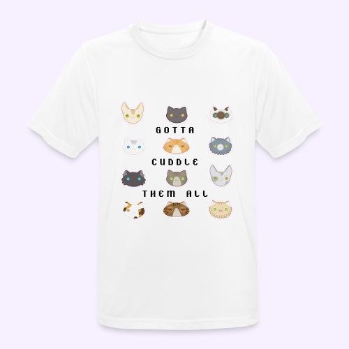 All the Cats - Maglietta da uomo traspirante