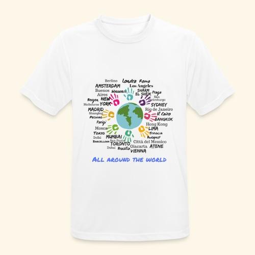 All around the world uomo - Maglietta da uomo traspirante
