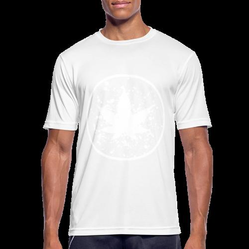 Cannabisblatt Farbklecks im Kreis - Männer T-Shirt atmungsaktiv