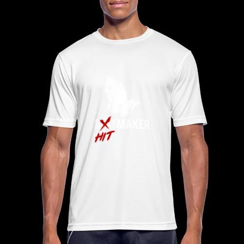 HitMaker Blanc - T-shirt respirant Homme