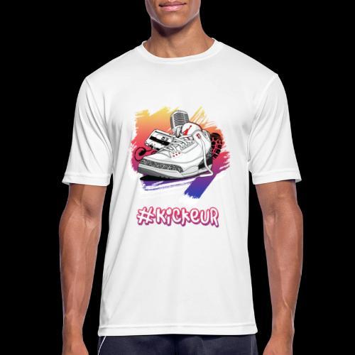#Kickeur Blanc - T-shirt respirant Homme