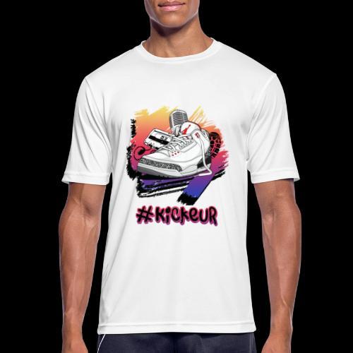 #Kickeur Noir - T-shirt respirant Homme