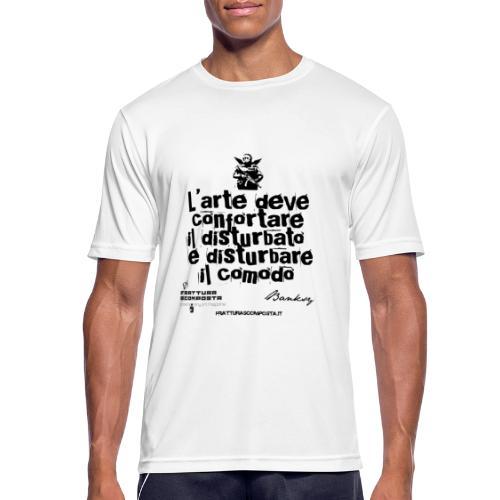 Aforisma Banksy - Maglietta da uomo traspirante