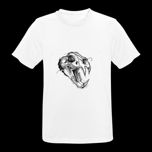Teschio Tigre - Maglietta da uomo traspirante