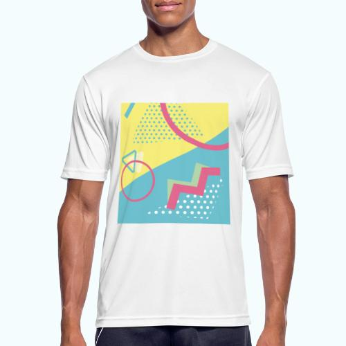 Pastel turquoise geometry - Men's Breathable T-Shirt
