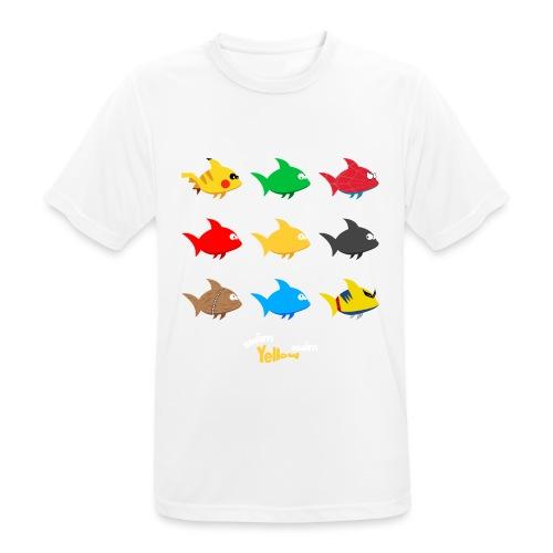 Swim! Yellow! Swim! - Mannen T-shirt ademend actief
