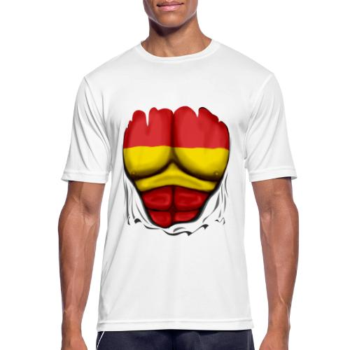 España Flag Ripped Muscles six pack chest t-shirt - Men's Breathable T-Shirt
