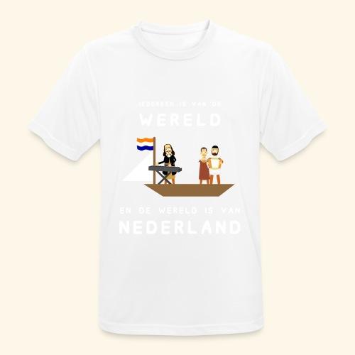 Iedereen is van de wereld... - mannen T-shirt ademend