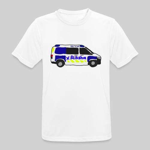 poliisiauto - miesten tekninen t-paita