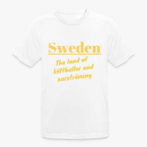Landet av köttbullar - Andningsaktiv T-shirt herr