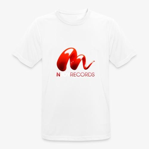 Logo Njoy Records Blanc - T-shirt respirant Homme