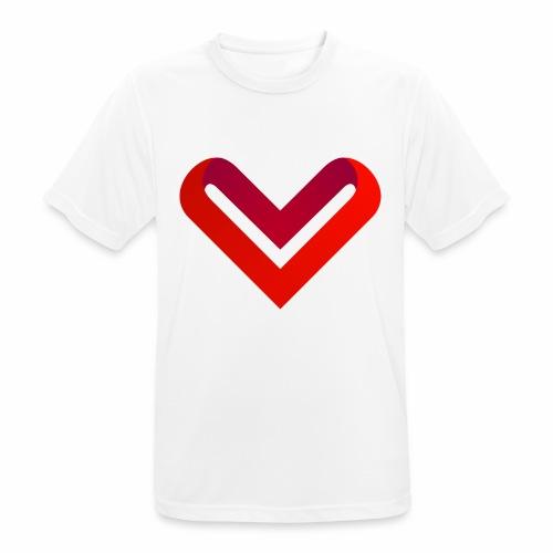 Coeur de V - T-shirt respirant Homme