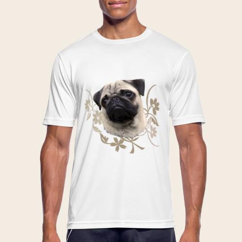 Mops Portrait - Männer T-Shirt atmungsaktiv