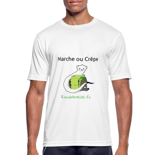 Randobreizh, marche ou crêpe - T-shirt respirant Homme