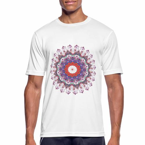 Orange mandala - Herre T-shirt svedtransporterende
