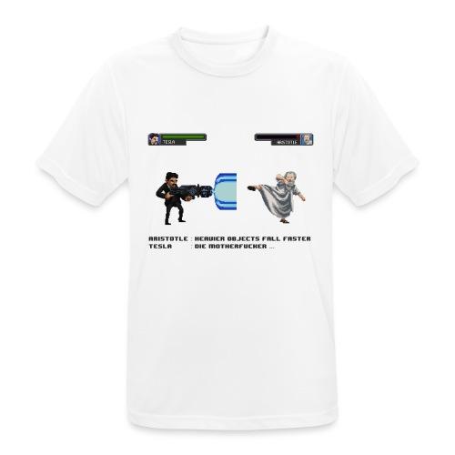 Aristotle vs Tesla - T-shirt respirant Homme