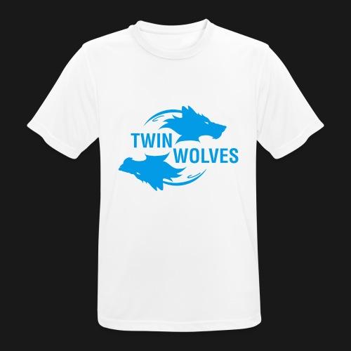 Twin Wolves Studio - Maglietta da uomo traspirante