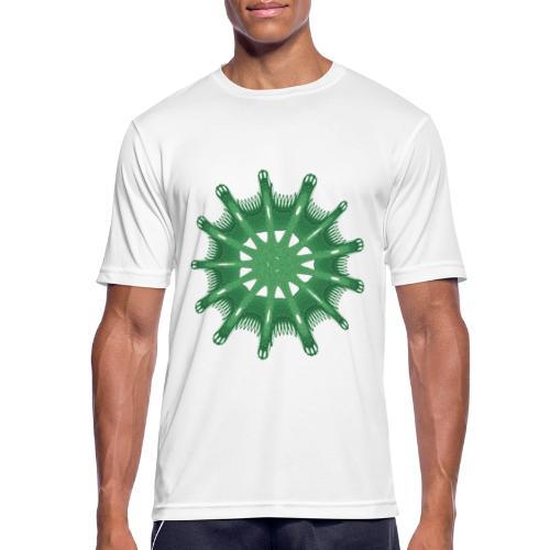 grünes Steuerrad Grüner Seestern 9376alg - Männer T-Shirt atmungsaktiv