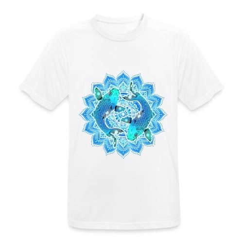 Asian Pond Carp - Koi Fish Mandala 1 - Männer T-Shirt atmungsaktiv